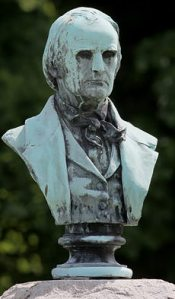 A bust of John Rankin at his grave. The Presbyterian minister is said to have sheltered about 2,000 runaway slaves who sought refuge at his home in Ripley, Ohio.