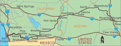 San Diego, Calif., to Tempe, Ariz. (411.5 miles)
