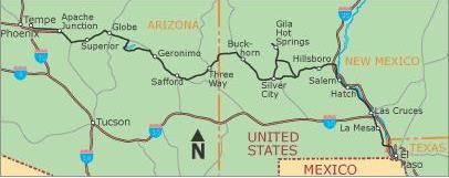 Tempe, Ariz., to El Paso, Texas (540 miles)