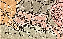 British West Florida in 1767