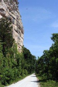 Bluffs along Katy Trail