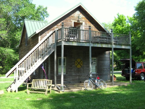 The Carriage House at the Katy Trail Bed and Bikefest in Rocheport, Mo., our Lodging the first night on the trail