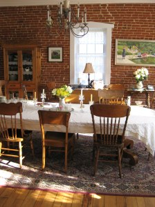 Another view of the dining room at the Red Brick Inn