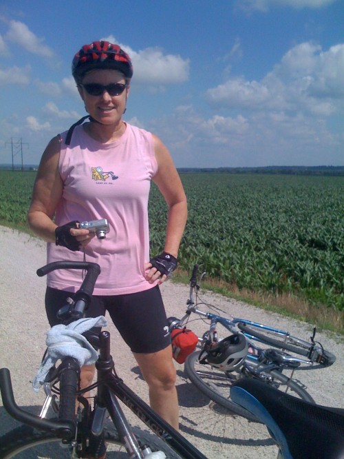 Laura Karr on the Katy Trail