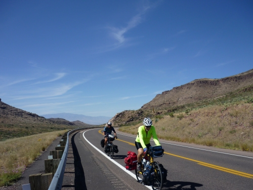 Climbing a 6,295-foot pass on Arizona 78  on the way to Buckhorn, N.M.