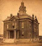 Prescott's territorial courthouse, circa 1885