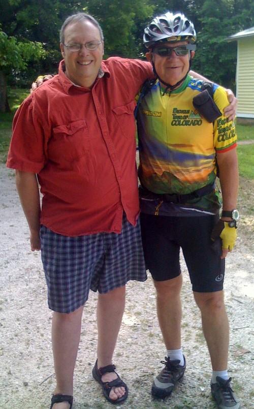 Rick Karr and Jim Peipert at Rendleman House in Bluffton, Mo.