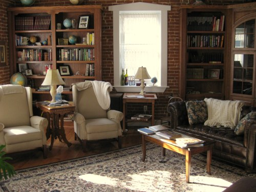 The sitting room at the Red Brick Inn in Augusta, Mo., our lodging the third and last night on the Katy Trail