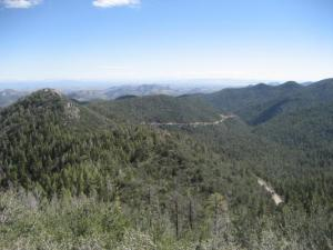 A view to the west from near the summit of Emory Pass. The photo was shot by a cyclist who had just climbed the pass from the west.