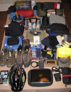 Gear for cross-country trip