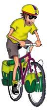 Touring cyclist cartoon