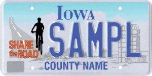 Iowa share the road