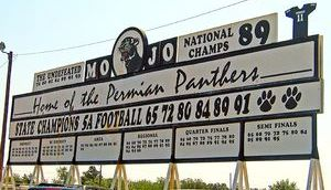 Permian Panthers sign