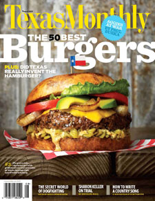 TX monthly burger cover