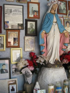 A roadside shrine near Miami, Ariz.