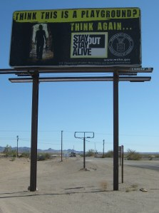 Billboard at  Glamis
