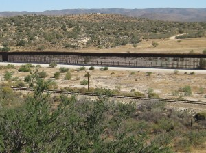 Border fence at Jacumba with Mexico on the other side