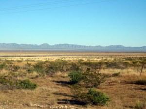 Desert view near spaceport