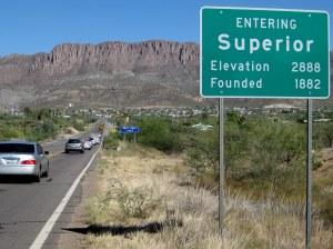 Entering Superior