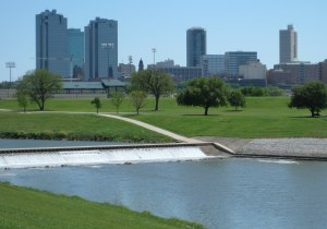 Fort Worth skyline from the Trinity Trails