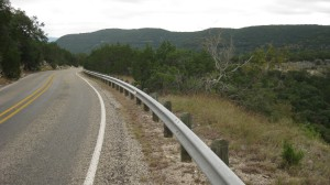 A chipseal road in the Texas Hill Country