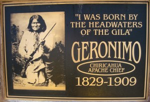 Geronimo plaque