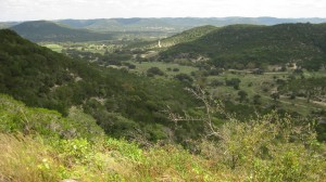 Near the top of a climb in the Hill Country