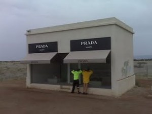 A Prada shop in that apparently serves the artsy folks in Marfa. Photo by Reg Prentice