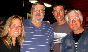 Mayor Charles Hudson with Kami, Reg and Jim