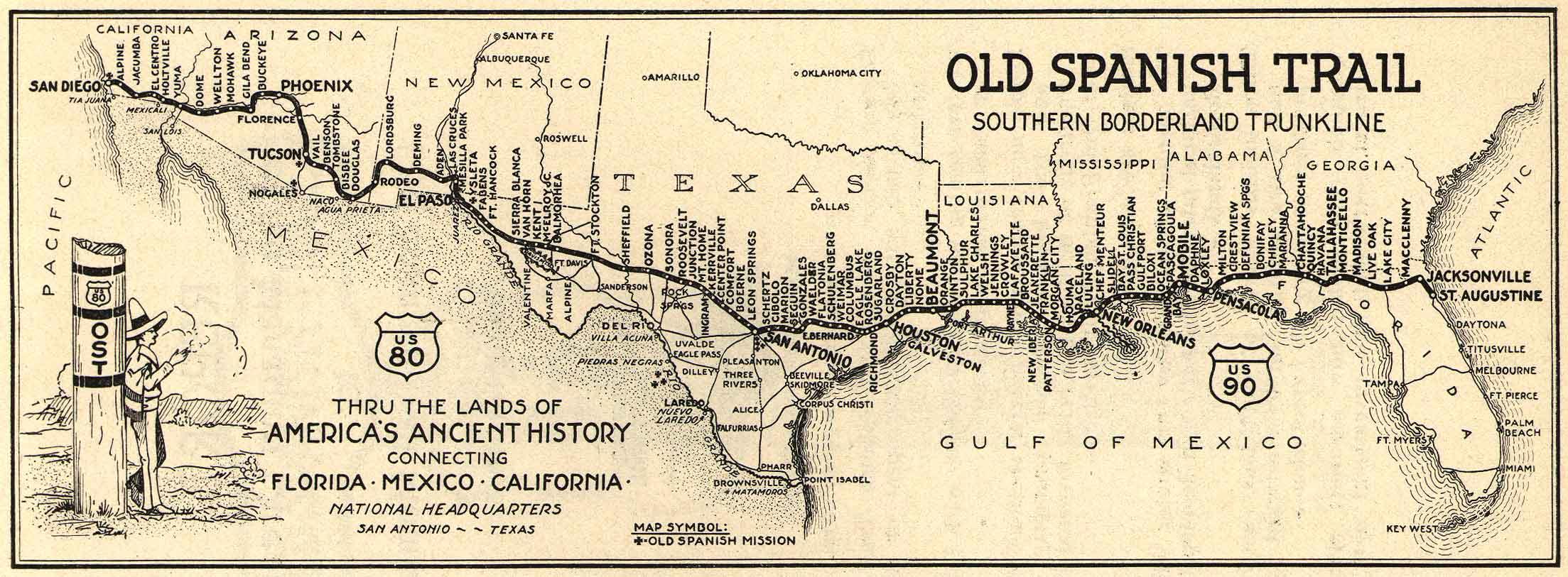 Majestic Landscapes Of The Borderlands Jims Bike Blog - Old map of us