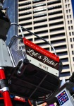 Each bike-share bike is equipped with a commodious front basket