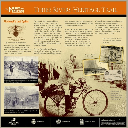 Sign honoring Lenz to be placed on Three Rivers Heritage Trail
