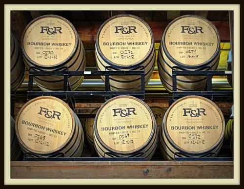 Barrels of aging bourbon at Firestone & Robertson Distilling Co., Fort Worth