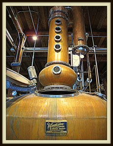 Copper pot still, Firestone & Robertson Distilling Co., Fort Worth, 2013