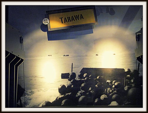 Exhibit on Tarawa landing, National Museum of the Pacific War, Fredericksburg, Texas