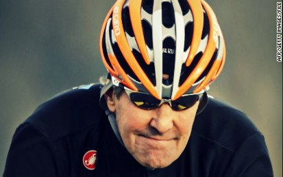 John Kerry on his bike. AFP:Getty Images 2